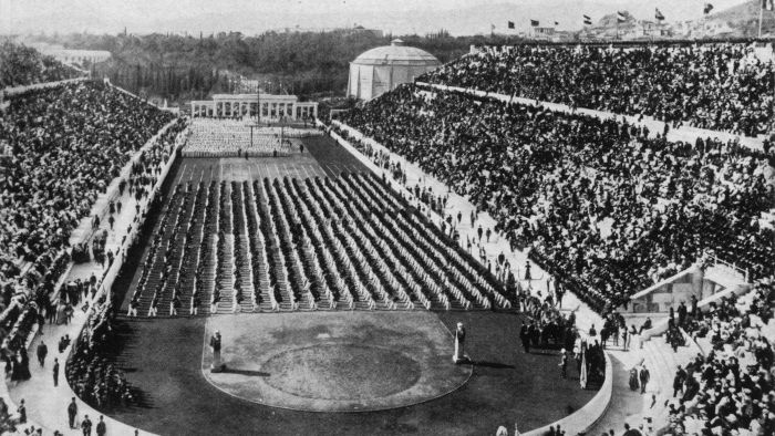 Where were the first modern Olympics held?