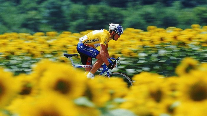 What year did Lance Armstrong win his first Tour de France?