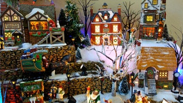 how do you build a christmas village display