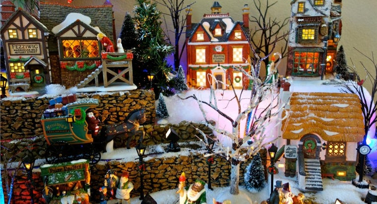 How Do You Build a Christmas Village Display?