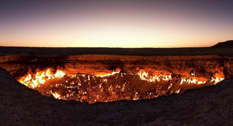 What Desert Crater Has Been on Fire for Over 40 Years?