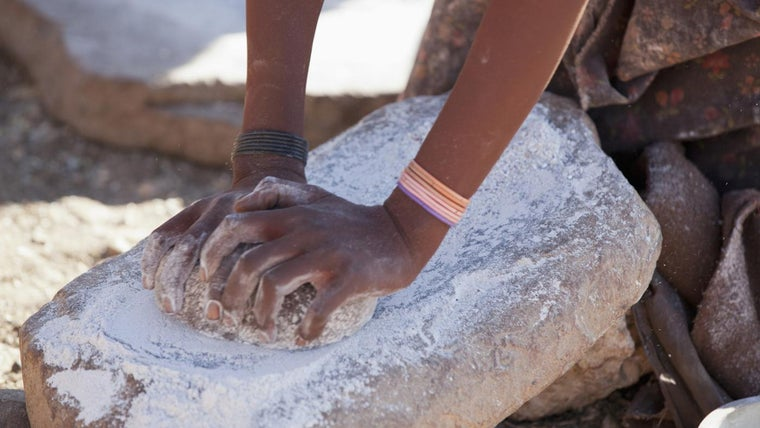 Image result for neolithic wheat grinding