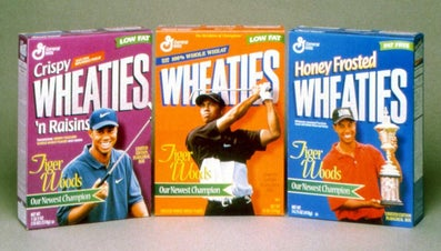 When Did Wheaties Begin Printing Pictures on Cereal Boxes?