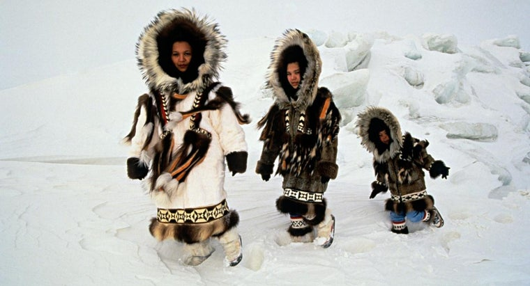 What Are Eskimo Clothes Made From?