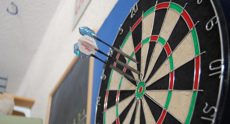 How Far Away Must You Stand From a Dart Board?