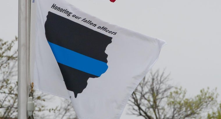 What Flag Is Black With a Horizontal Blue Stripe?
