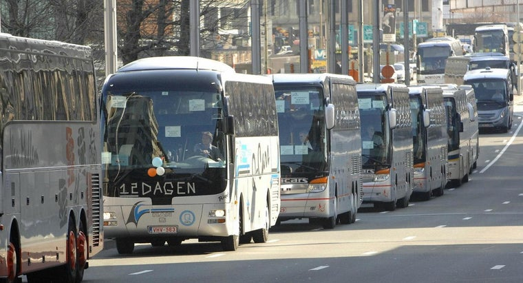 What Is the Gas Mileage for a Coach Bus?