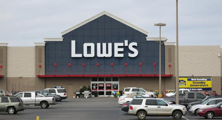 What Items Are Sold at Lowe's Home Improvement Stores?