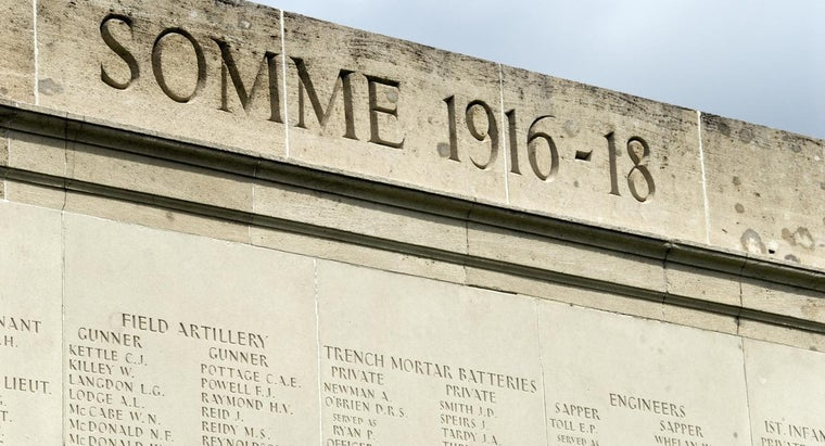How Many People Died in the Battle of the Somme?