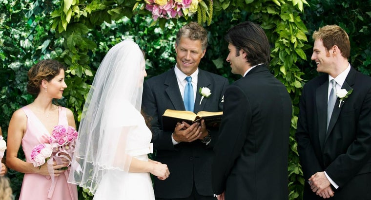What Does A Minister Say At Wedding