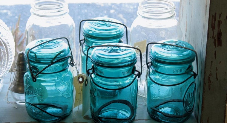 How Much Can I Get for a Teal Blue Mason Jar From 1858?