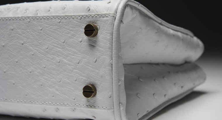 How Does One Clean a White Leather Purse?