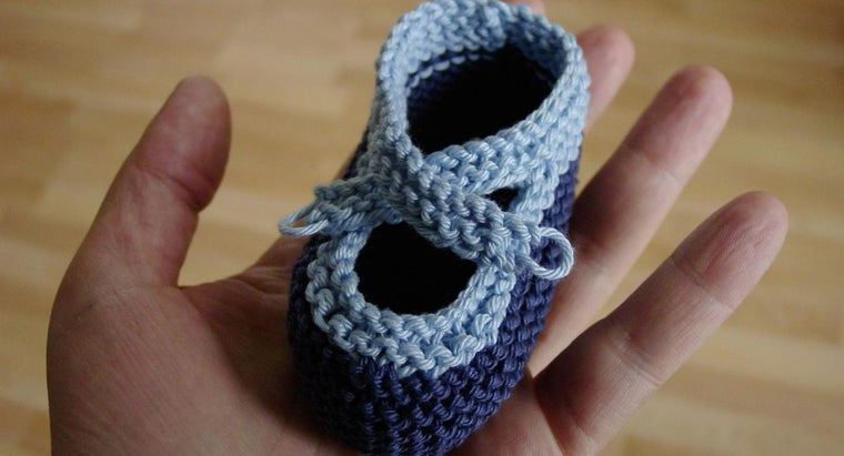 How Does One Knit Baby Booties?