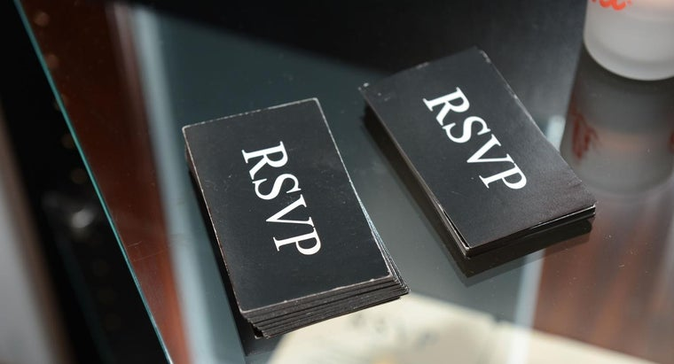 What Is the Proper Wording for an RSVP?