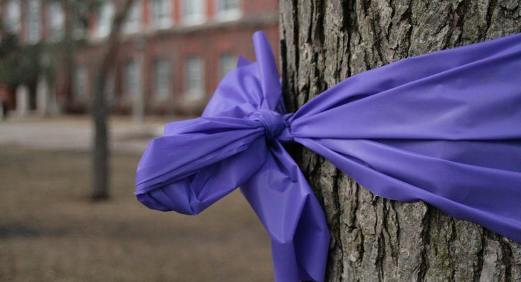 What Does a Purple Cancer Ribbon Symbolize?