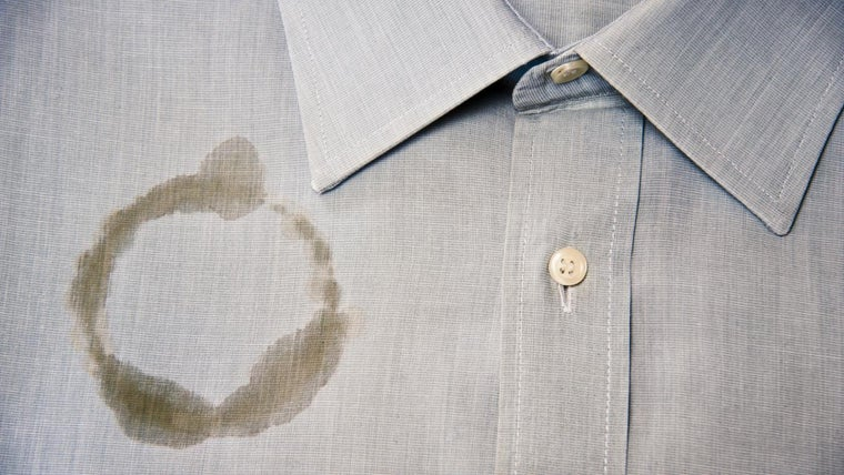 how to clean polyester stains