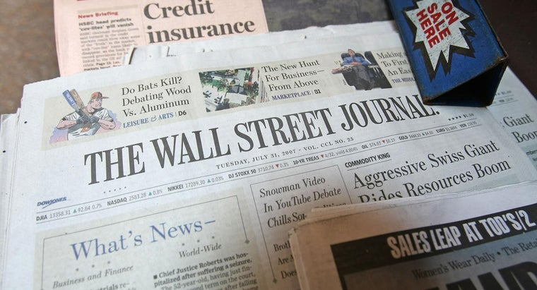 How Often Is the Wall Street Journal Published? | Reference.com