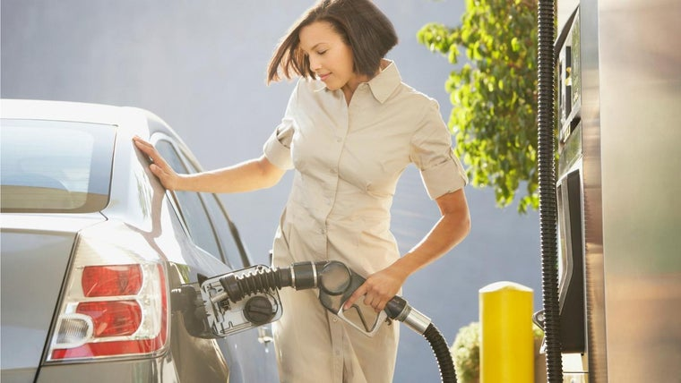 how to clean spillled gasoline