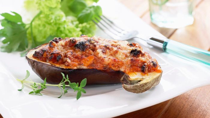 What is a baked eggplant recipe?