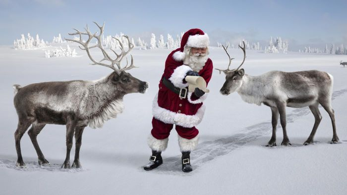 Where Can You Find Santa and Reindeer Images?