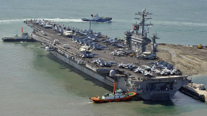 What Are Some Notable Places the USS Nimitz Has Been To?