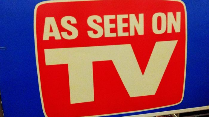 Are products sold on TV also sold in stores?