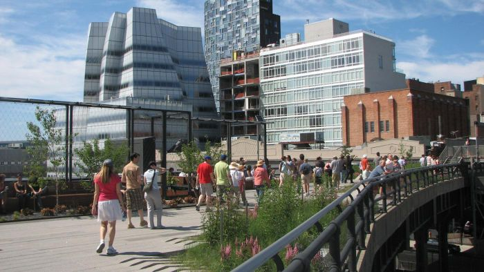 Is There a Map for The High Line Park in New York City Available on a Smartphone?