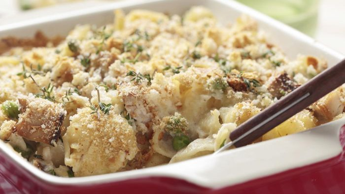What is a quick, easy recipe for tuna casserole?