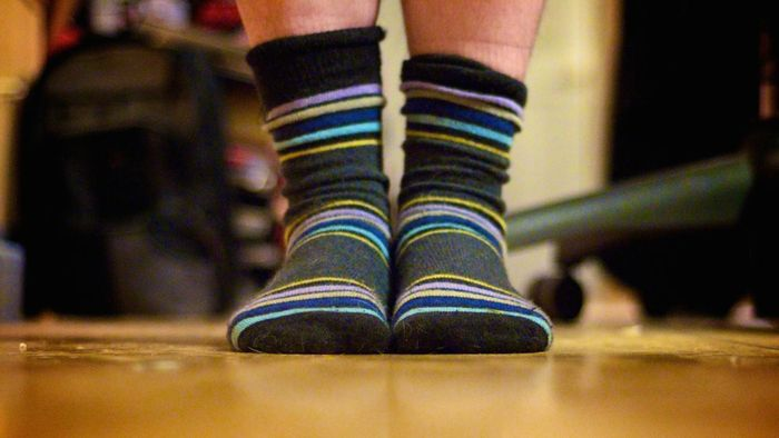 What size socks are appropriate for a 10-year-old boy?