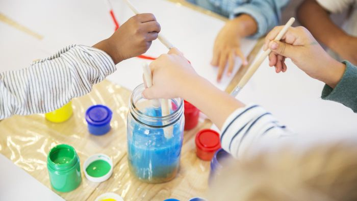 How do you encourage children to paint and make models?