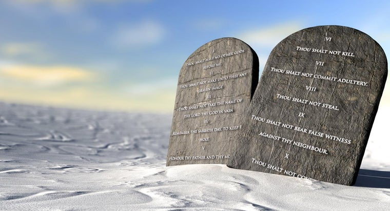 What Is the Order of the Ten Commandments?