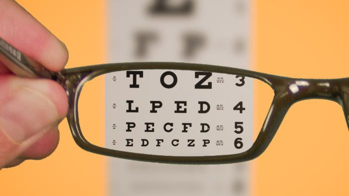 What are the different types of eye exam charts?