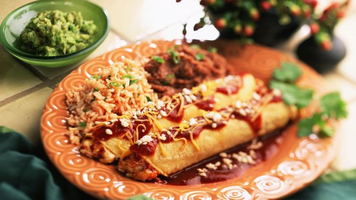 What Is a Healthy Recipe for Mexican Enchiladas?