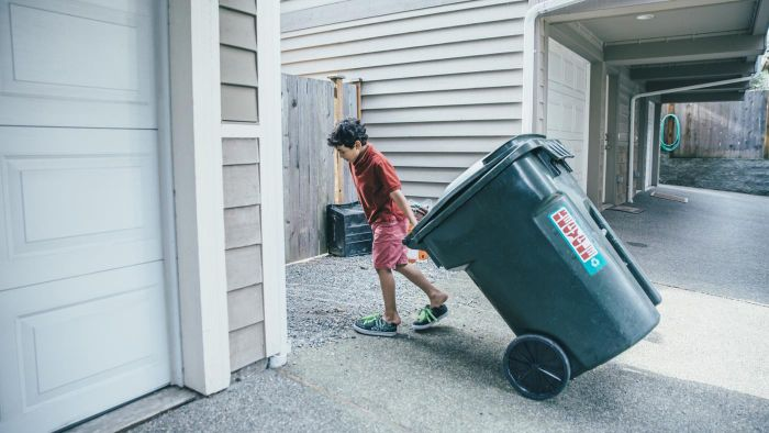 Where Are the Garbage Pickup Days Listed for the Month?