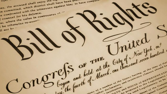 What Is the List of the Bill of Rights?