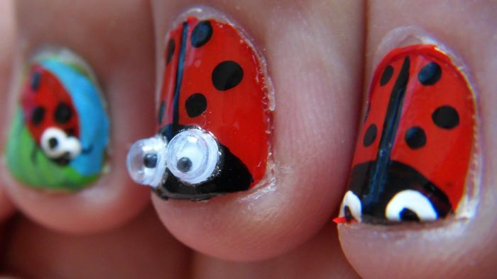 What are some unusual ideas for nail art designs?
