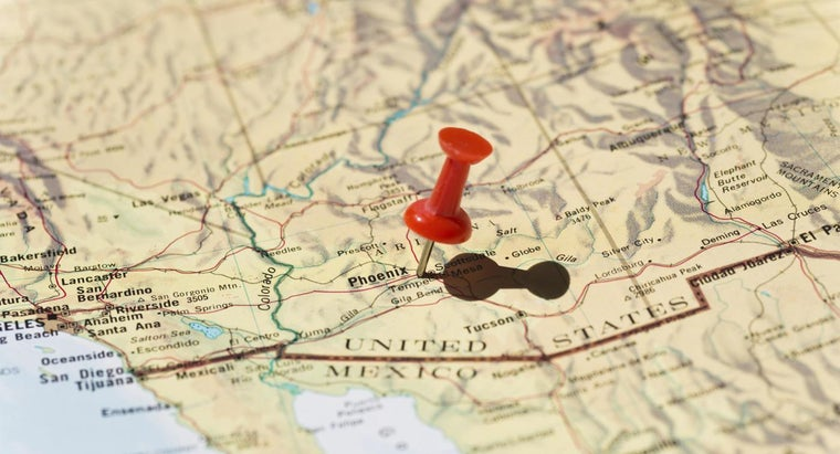 Where Can You Find a Map of Arizona?