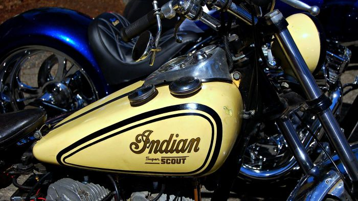 When was the first Indian motorcycle model made?