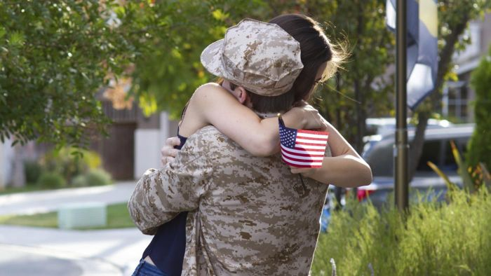 What benefits are available for a military veteran's wife?