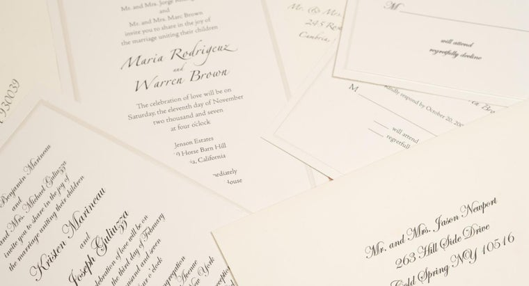 How Do You Word a Wedding Invitation?