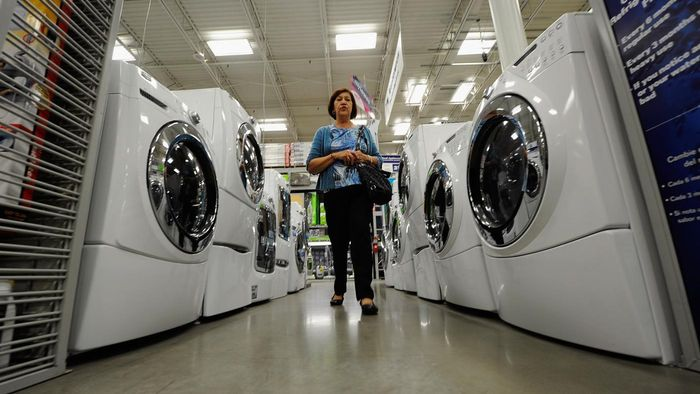 Where can you learn more about pricing and warranties for appliances sold at Lowes?