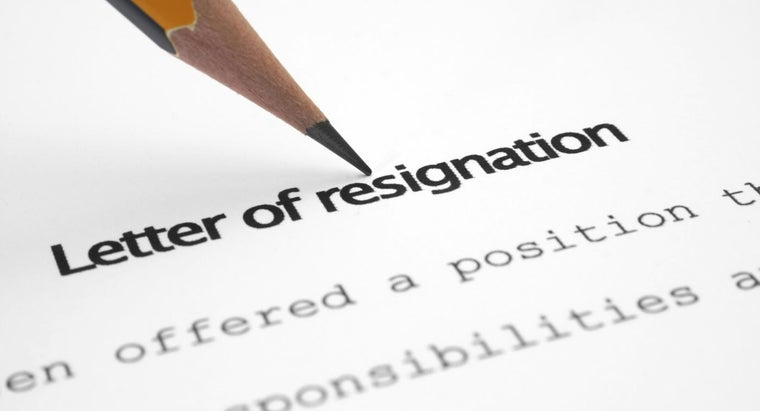 How Do You Write a Simple Letter of Resignation?