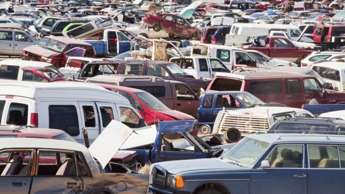 What are some salvage yards in California?