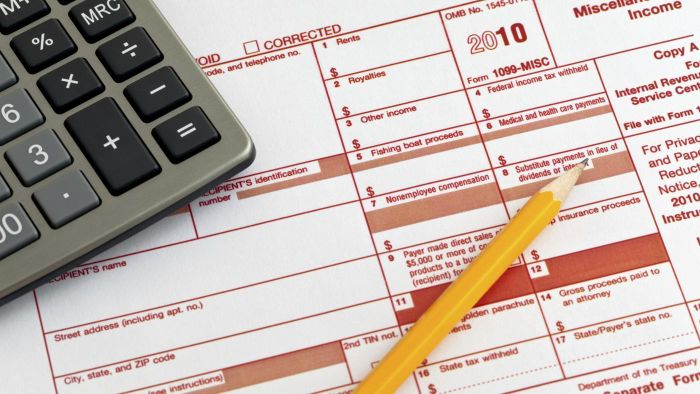 Is there a sample of the 1099 tax form available?