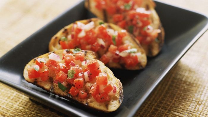 What is a simple bruschetta recipe?