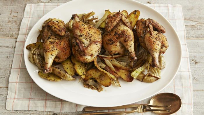 What Is Rachel Ray's Recipe for Cornish Hens?