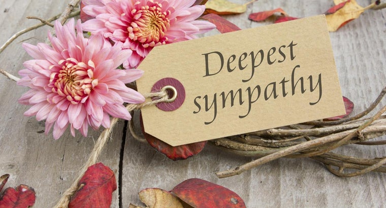 Where Can You Find a Sample Condolence Note?