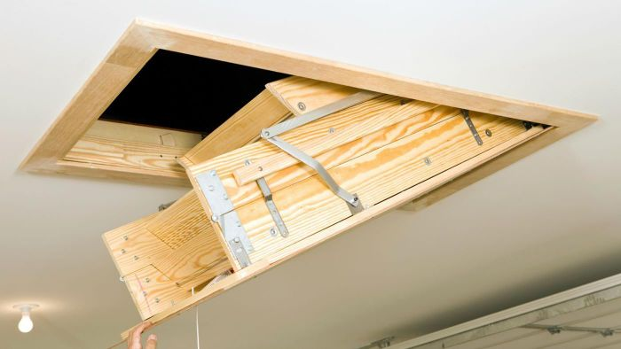 How do you install pull-down attic ladders?